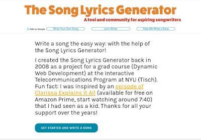 Songlyricsgenerator Song Lyrics generator tool