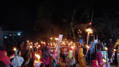 Bersama KKN STAI An-nawawi, Karang Taruna Desa Wonoyoso Meriahkan Malam Takbir Idul Adha Dengan Pawai Obor