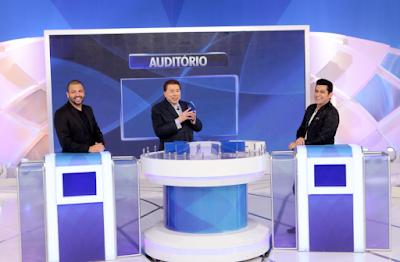 Projota, Silvio e Léo (Foto: Lourival Ribeiro/SBT)