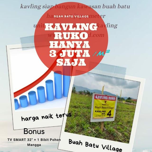 Tanah Kavling Siap Bangun Di Terusan Buahbatu Bojongsari Bojongsoang (Ruko hanya 3jutaan/m²)