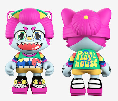 Neon Future & Playhouse Janky Vinyl Figures by Steve Aoki x Superplastic