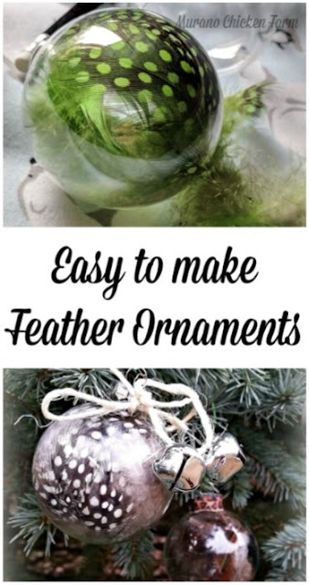 Make Feather ornaments