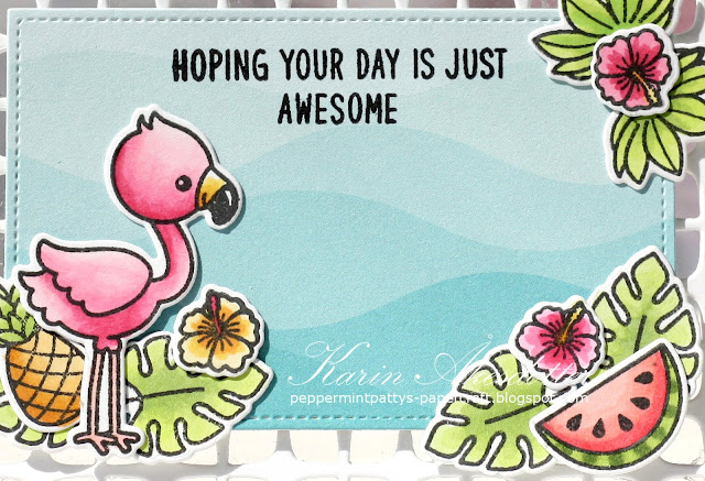 Sunny Studio Stamps: Frilly Frame Dies Fabulous Flamingos Cards by Karin Åkesdotter