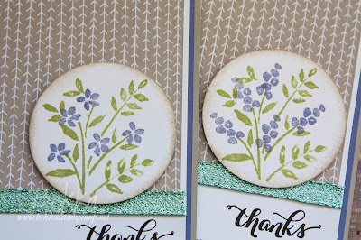 Number Of Years Thank You Cards made using supplies from Stampin' Up! UK