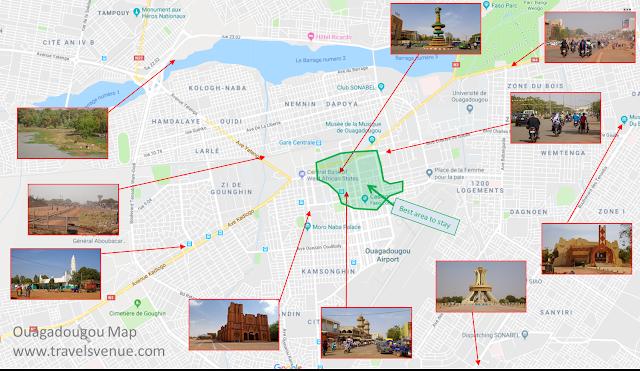 Ouagadougou-Map