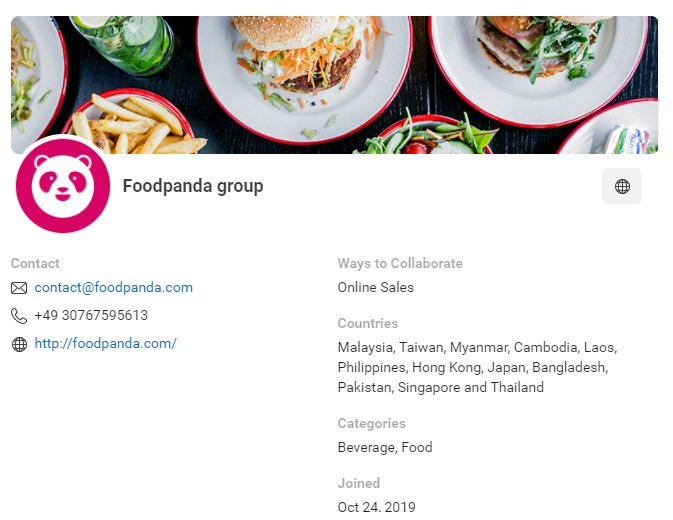 CPAS retail partner: Foodpanda