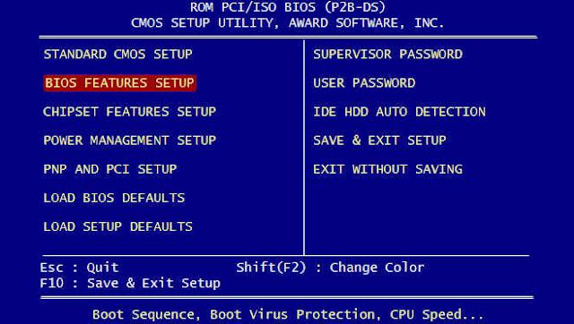 Pengertian BIOS, Fungsi Serta Jenis-Jenis BIOS