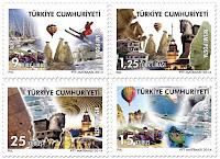 Kültür varlıklarımız ve turistik mekanlar konulu posta pulları