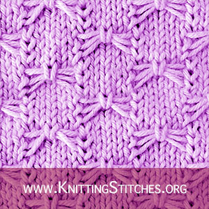 Knits, Knitting stitches and Knitting patterns. Free Knitting Pattern. Slipped Stitch Pattern