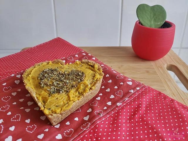 Torta de Homus de Abóbora - Vegana