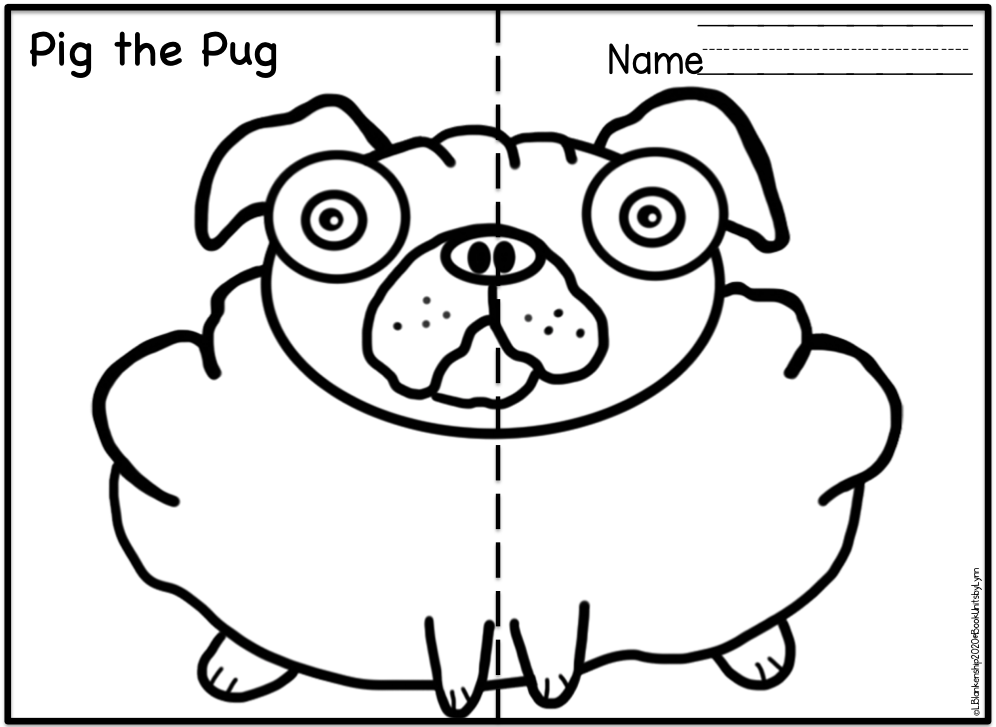 PIG THE PUG BOOK CRAFT ~ Book Units by Lynn