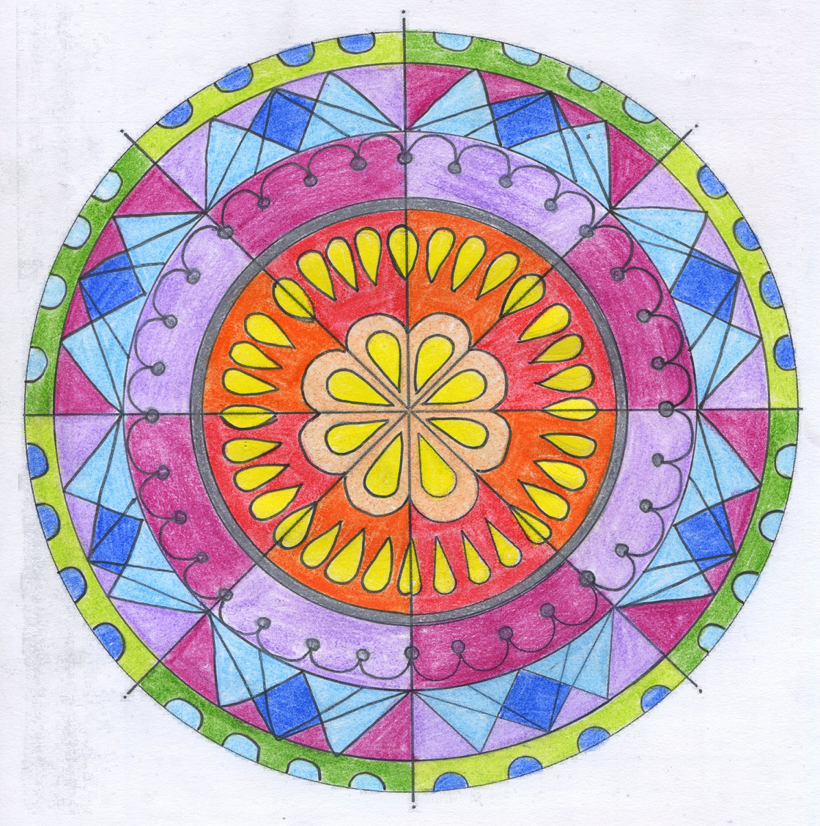 Visual Arts Working With Radial Symmetry