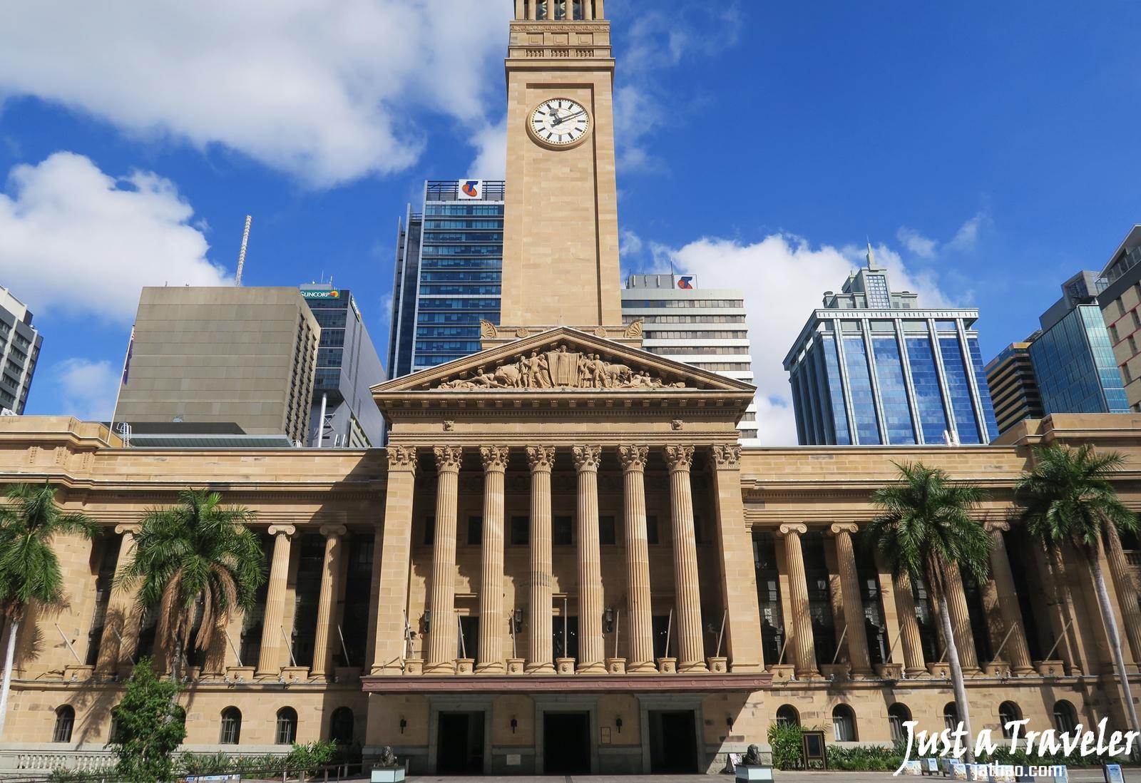 布里斯本-市區-景點-喬治國王廣場-布里斯本市政廳-遊記-行程-介紹-King George Square-Brisbane City Hall-布里斯班