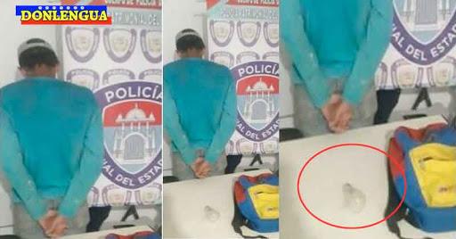 ÉXITO | Policías detienen a un individuo por robarse un bombillo en Falcón