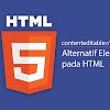 Contenteditable Alternatif Elemen Input pada HTML