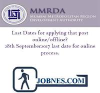 Mumbai Metropolitan Region Development Authority Recruitment 2017 for various posts  apply online here