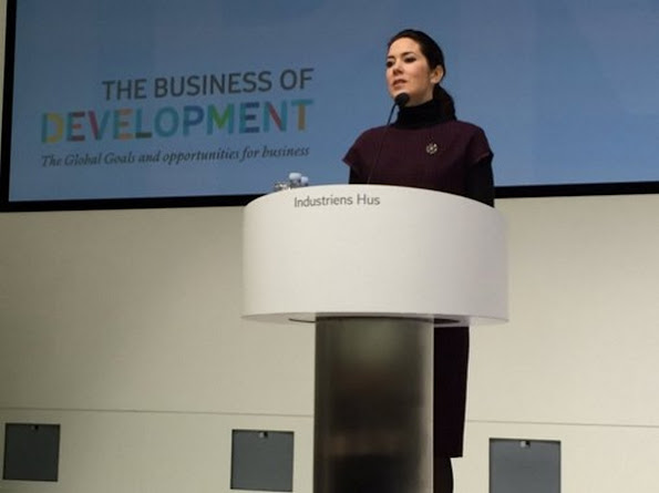 "Crown Princess Mary of Denmark opened ""UN 17 World Goals and Sustainable Development"" conference in Copenhagen. Crown Princess Mary is responsible for opening ""UN 17 Sustainable Development Goals"" conference"