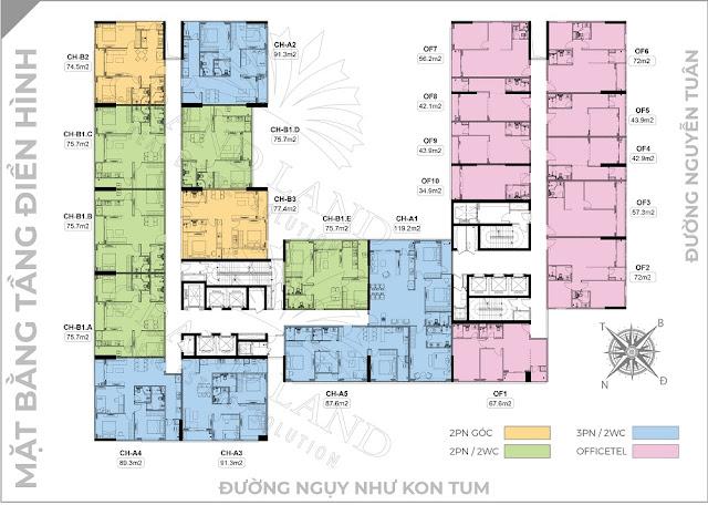 Mặt bằng tổng thể chung cư Harmony Square Nguyễn Tuân