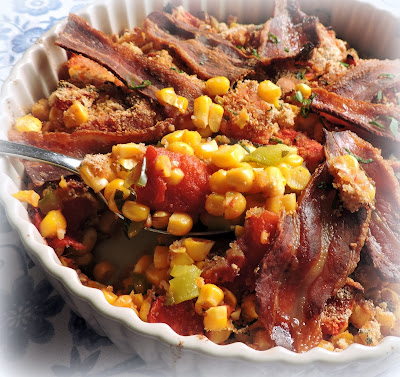 Corn & Tomato Pie