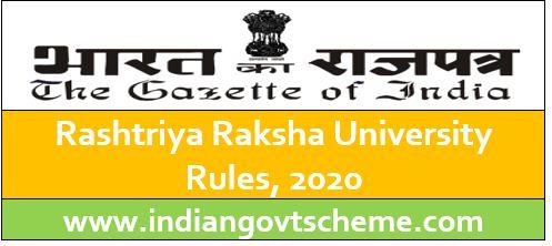 Rashtriya Raksha University Rules, 2020