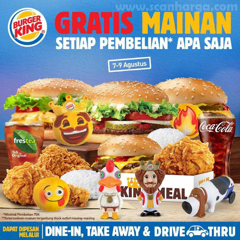Promo Burger King Gratis Mainan
