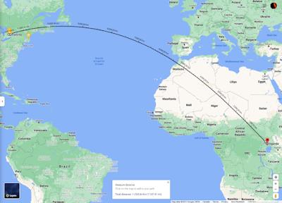 Toronto to Uganda