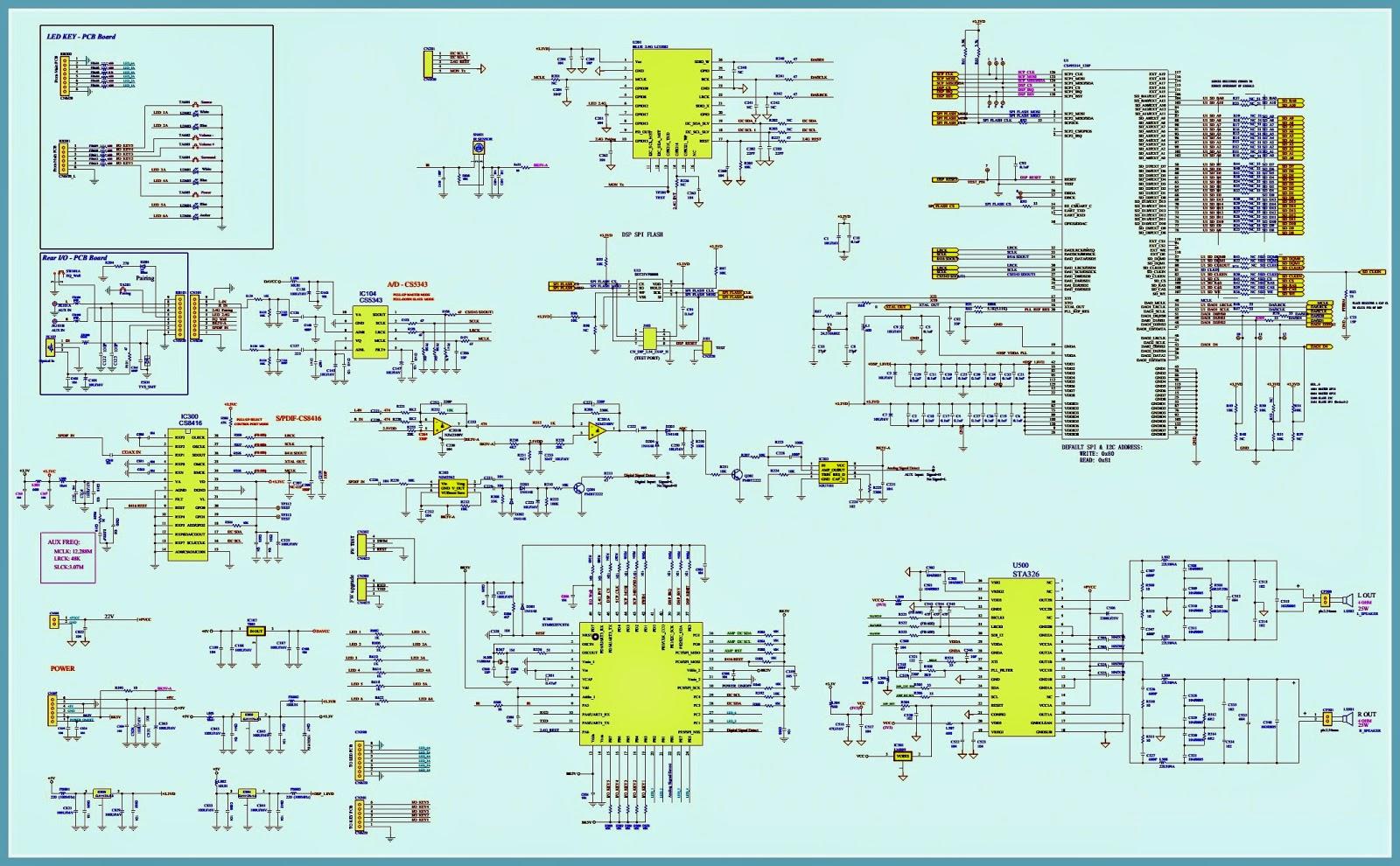 Electro Help  Jbl Sb 300  U2013 Sb 230 Powered Sound Bar Schematic