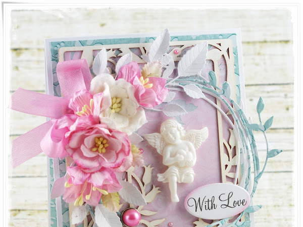 Shabby Chic card with Angel - Wild Orchid Crafts DT