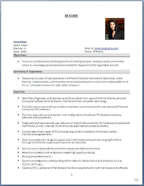 System Administrator Resume Format - system administrator resume