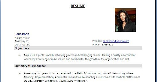 System+Administrator+Resume+FormatJPG - resume format for hardware and networking