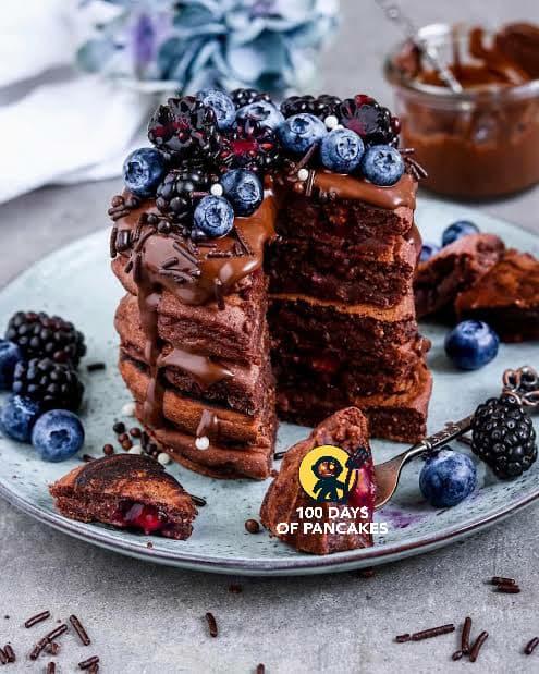 VEGAN CHOCOLATE BLUEBERRY PANCAKES are blueberry pancakes healthy