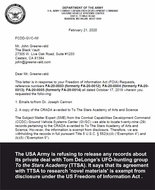 https://nexusnewsfeed.com/article/unexplained/us-army-refuses-to-release-records-about-tom-delonge-s-ufo-organization