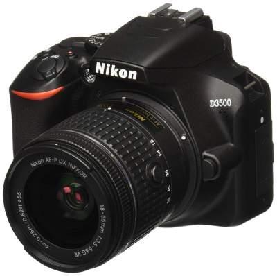 Nikon D3500 DLSR Camera with  W/AF-P DX Nikkor 18-55mm f/3.5-5.6G VR
