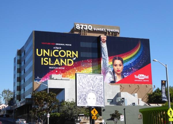 Unicorn Island YouTube Red movie billboard