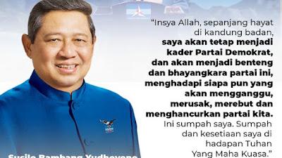 SBY : Selama Hayat di Kandung Badan Saya Tetap Kader Partai Demokrat