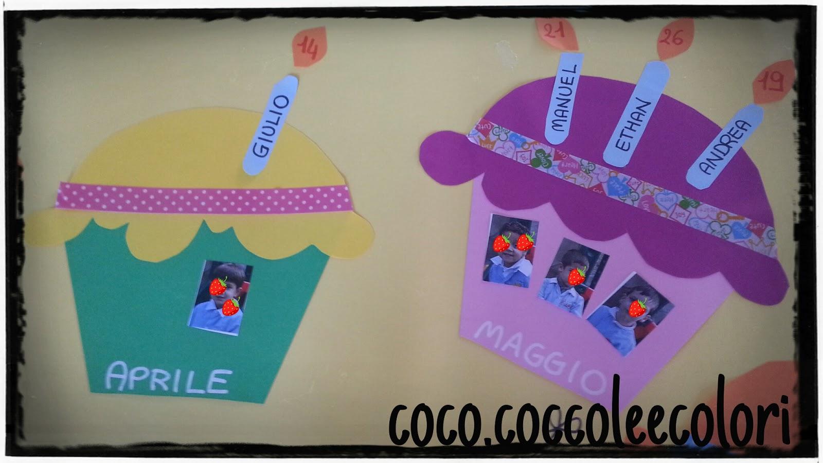Coco tra coccole e colori un goloso cartellone dei for Cartelloni scuola infanzia