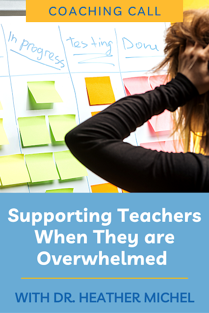 Teacher burnout is real! Teaching has been an exhausting profession in recent years due to increased work demands. And this trend doesn't seem to be going away any time soon. On the podcast, Dr. Heather Michel and I discuss ideas for instructional coaches supporting overwhelmed teachers. We brainstorm instructional coaching strategies for supporting teachers through all the emotions that come with teacher overwhelm.