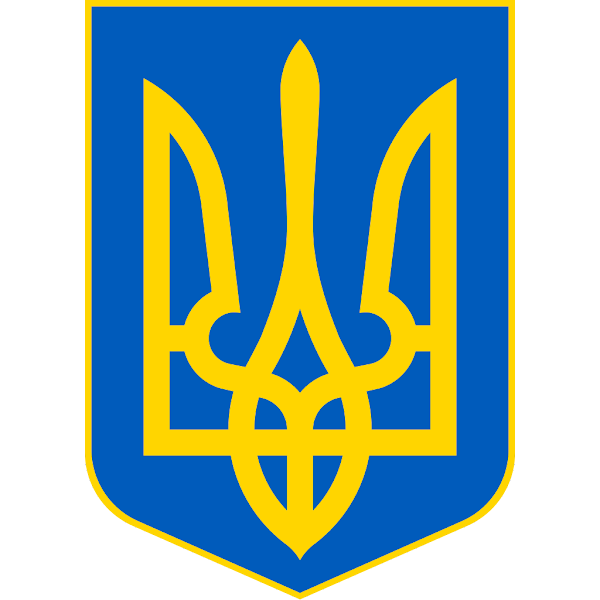 Logo Gambar Lambang Simbol Negara Ukraina PNG JPG ukuran 600 px