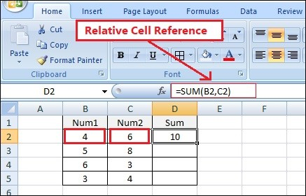 relative-cell-reference-use-in-excel-in-hindi