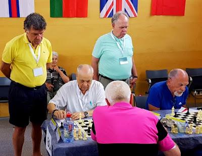 Jaume Anguera en el XVII European Senior Chess Championship