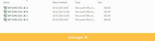Aplikasi SKP Guru 2016 dengan Excel - Golongan III