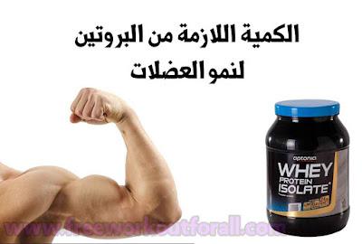 كمية البروتين اللازمة لنمو و بناء العضلات