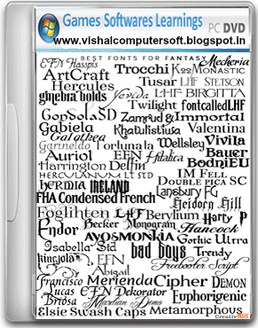Fonts Collection Part 2 Free Download - Vishal Computer And Software