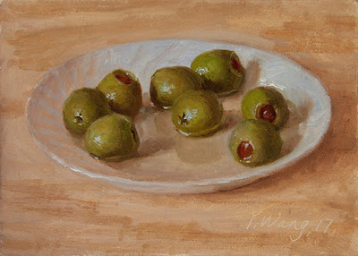 olives painting a day