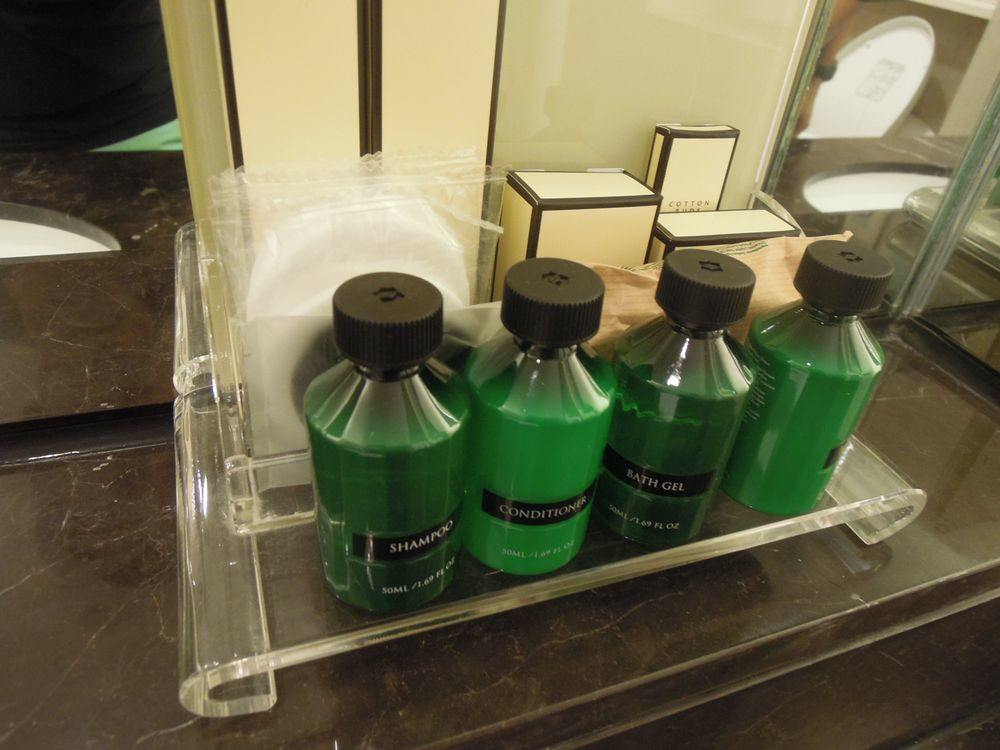 Toiletries at Shangri-La's Mactan Resort and Spa
