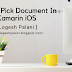 How To Pick A  Document In Xamarin.iOS
