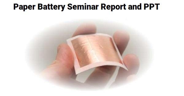paper battery seminar ppt