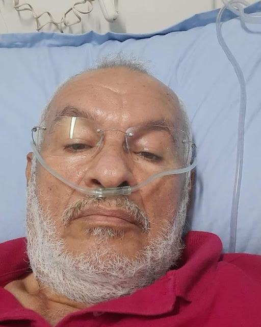 Notícia sobre a saúde de José Teixeira, coordenador geral do SINTE/RN