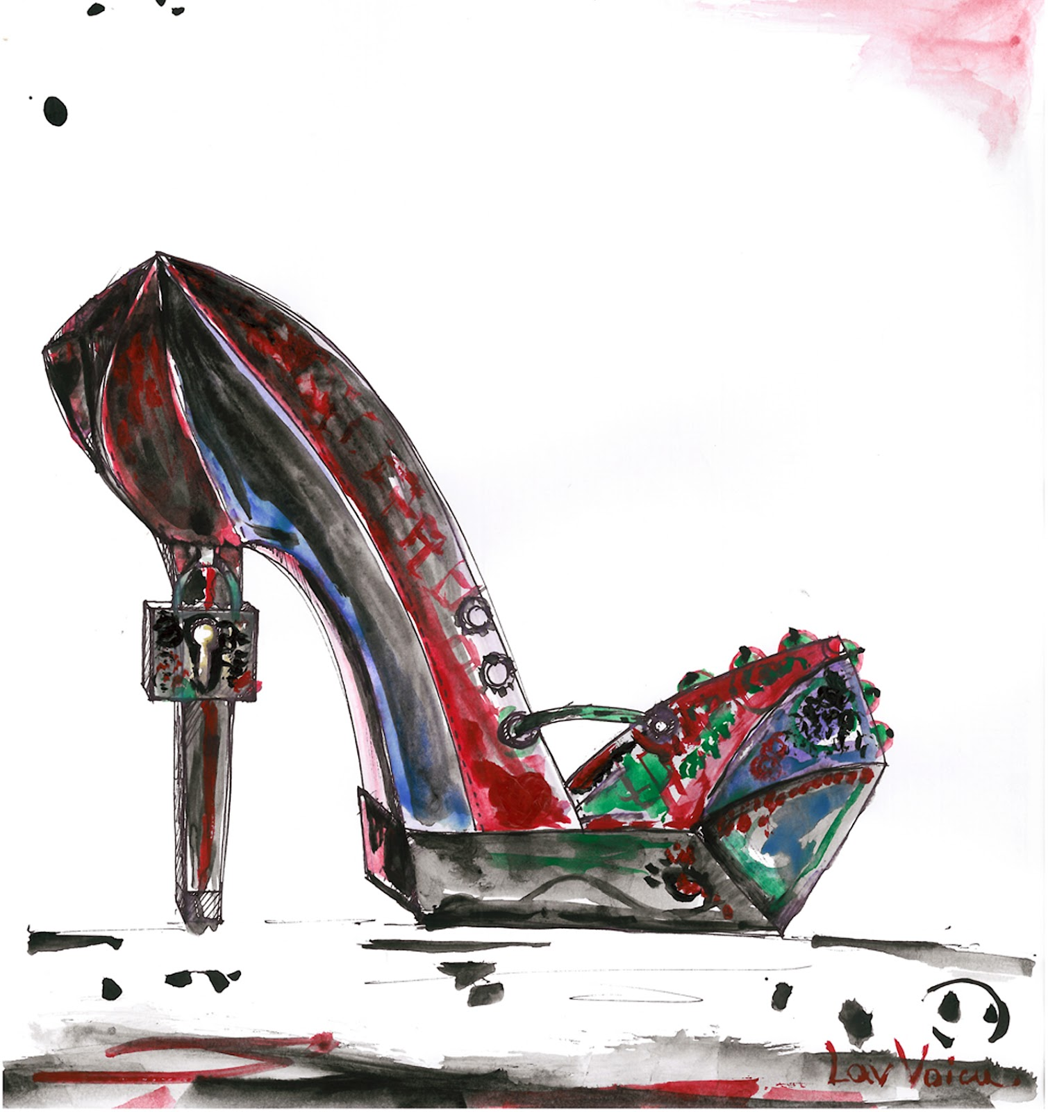 Avantgarde Fashion Shoe Illustration