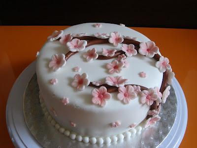 tarta fondant flor de cerezo